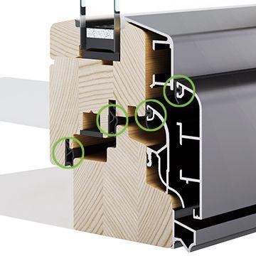 Četverostruko brtvljenje drvo-aluminijskih prozora - Lokve Quality Windows