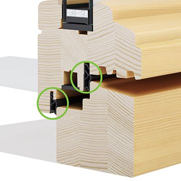 Dvostruko brtvljenje za drveni prozori Eurolok 68 HISTORIC - Lokve Quality Windows