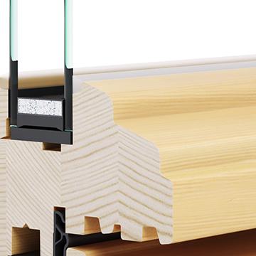 Eurolok 68 drveni prozori sa drvenom okapnicom - Lokve - Quality Windows