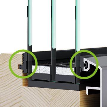 Ostakljivanje bez silikona drvo-aluminijskih prozora - Lokve Quality Windows