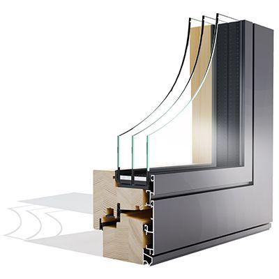 Win Alulok 100 FLAT drvo-aluminijski prozor - Lokve Quality Windows